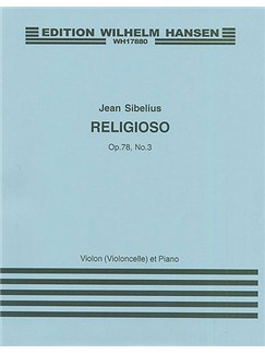 Jean Sibelius: Religioso Op.78 No.3 Books | Violin (Cello), Piano