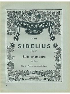 Jean Sibelius: Suite Champetre Op.98b No.1- Piece Caracteristique (Piano) Books | Piano