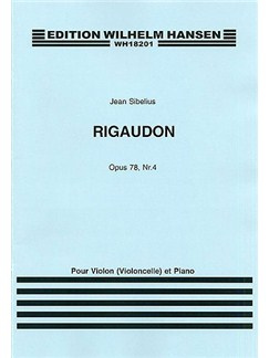 Jean Sibelius: Rigaudon Op.78 No.4 Books | Violin, Cello, Piano Accompaniment