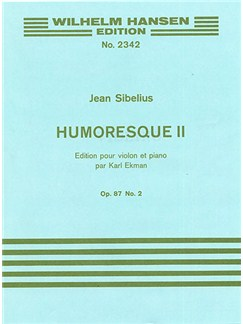 Jean Sibelius: Humoresque No.2 Op.87 No.2 (Violin/Piano) Books | Violin, Piano