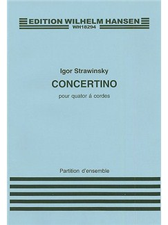 Igor Stravinsky: Concertino For String Quartet (Score) Books | String Quartet