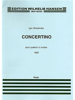 Igor Stravinsky: Concertino (1920) For String Quartet (Parts) Libro | Cuarteto de Cuerda