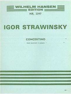 Igor Stravinsky: Concertino (1920) For String Quartet Arranged For Piano (Lourie) Books | String Quartet