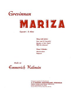 Emmerich Kalman: O, Kom, O Kom Zigan (Grevinde Mariza) Books | Soprano, Piano Accompaniment