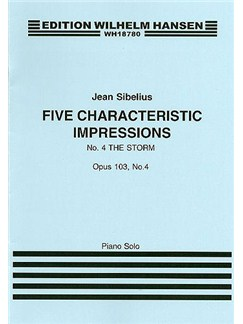 Jean Sibelius: Five Characteristic Impressions Op.103 No.4 - The Storm Books | Piano