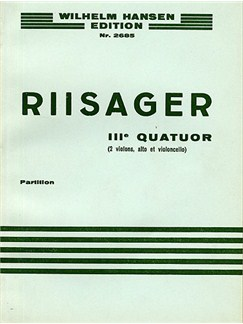 Knudåge Riisager: String Quartet No.3 (Miniature Score) Books | String Quartet