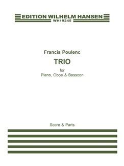 Francis Poulenc: Trio Pour Hautbois, Basson Et Piano Books | Bassoon, Oboe, Piano Chamber