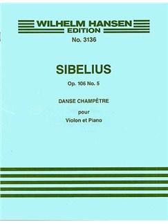 Jean Sibelius: Danse Champetre No.5 Op.106 No.5 Books | Violin, Piano