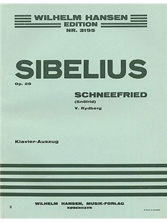 Jean Sibelius: Schnofried Op.29 (Vocal Score) Books | Narrator, Soprano, Alto, Tenor, Bass, Orchestra