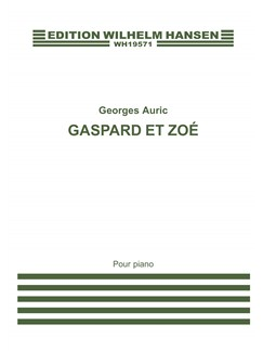 Georges Auric: Gaspard Et Zoé (Piano) Books | Piano