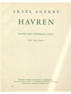Aksel Agerby (Arr. Leif Haraldsted): Havren (Voice And Piano) Books | Piano & Vocal