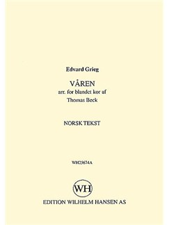 Edvard Grieg: Varen (Norwegian Text) Books | Soprano, Alto, Tenor, Bass