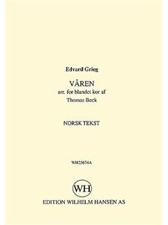 Edvard Grieg: Varen (Norwegian Text) Bog | SATB