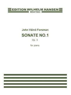 John Väinö Forsman: Sonata No.1 Op.3 (Piano Solo) Books | Piano