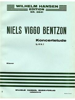 Niels Viggo Bentzon: Concert Etude For Piano Op.48 No.2 Buch   Klavier