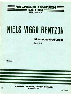 Niels Viggo Bentzon: Concert Etude For Piano Op.48 No.3 Buch   Klavier