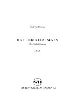 Knud Vad Thomsen: Jeg Plukker Fløjlsgræs Books | TTBB