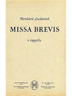 Bernard Lewkovitch: Missa Brevis (Men's Voices) Books | TTB