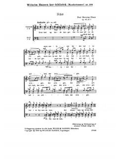 Poul Rovsing Olsen: Sne Op.43/1 (TTBB) Books | TTBB