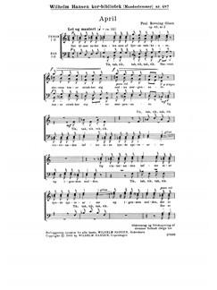 Poul Rovsing Olsen: April Op.43/2 (TTBB) Books | TTBB