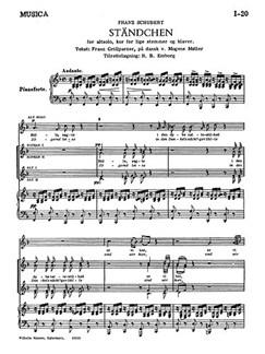 Franz Schubert: Standchen Books | Alto Solo, SSAA, Piano