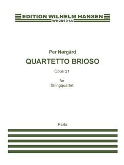 Per Nørgård: 'Quartetto Brioso' Op.21 - String Quartet No.2 (Parts) Books | String Quartet