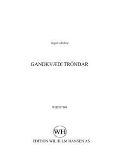 Vagn Holmboe: Gandkvædi Tróndar (SATB) Books | SATB