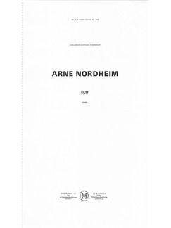 Arne Nordheim: Eco (Full Score) Books | Soprano, Orchestra