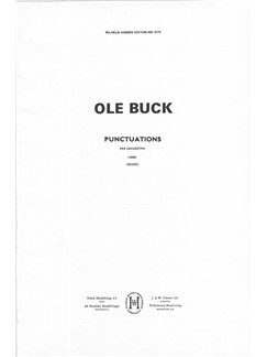 Ole Buck: Punctuations (Score) Books | Orchestra