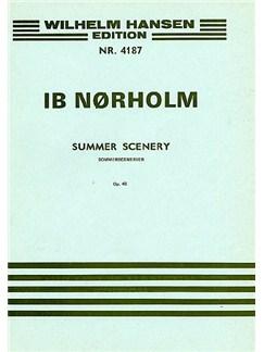 Ib Nørholm: Summer Scenery Op.40 (Score) Bog | Sopran, Alt, Tenor, 2-stemmigt kor, Orkester