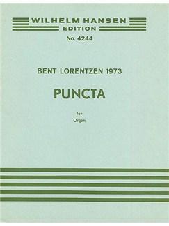 Bent Lorentzen: Puncti Books | Organ