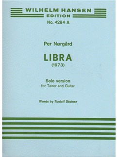 Per Nørgård: Libra (Score) Books | Tenor, Guitar, 2 Mixed Choirs, Percussion, Ensemble