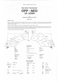 Olav Anton Thommessen: Opp - Ned (Full Score) Books | Orchestra, Voice