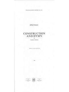 Alfred Janson: Construction And Hymn For Symphony Orchestra (Score) Bog | Fagot, Cello, Klarinet, Kontrafagot, Kontrabas, Fløjte, Horn, Obo, Slagtøj, Piccolofløjte, Basun, Trompet, Tuba, Bratsch, Violin, Orkester