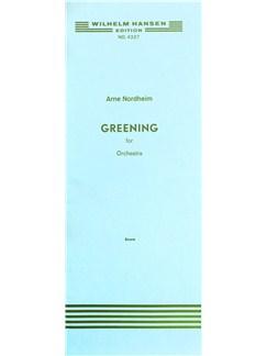 Arne Nordheim: Greening (Score) Bog | Orkester