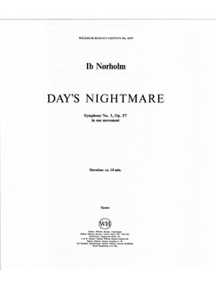 Ib Nørholm: 'Day's Nightmare' - Symphony No. 3 Op. 57 (Full Score) Books | Orchestra