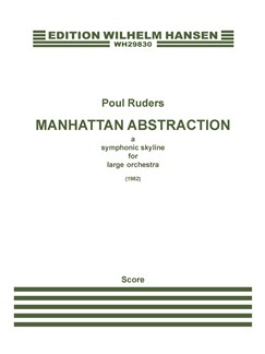 Poul Ruders: Manhattan Abstraction (Score) Books | Orchestra