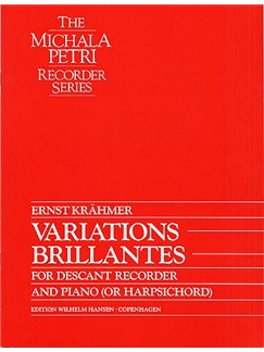 Ernst Krahmer: Variations Brillantes Books | Recorder, Piano Accompaniment
