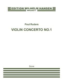Poul Ruders: Violin Concerto No.1 (Score) Books | Violin, Harp, Harpsichord, String Orchestra
