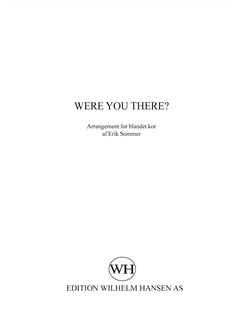 Erik Sommer: Were You There Books | SATB