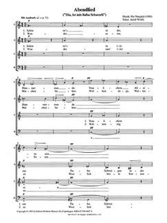 Per Nørgård: Abendlied (Zwei Wolfli Lieder) Books | SATB