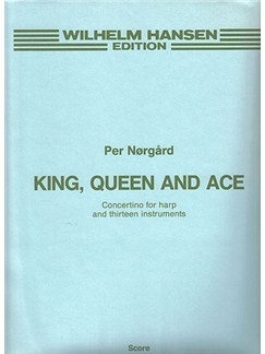 Per Nørgård: King, Queen And Ace (Full Score) Books | Harp, Ensemble