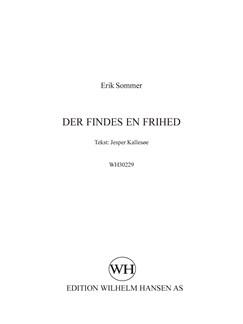 Erik Sommer: Der Findes En Frihed (SATB) Bog | SATB