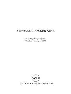 Vagn Nørgaard: Vi Hører Klokker Kime (SATB) Books | SATB