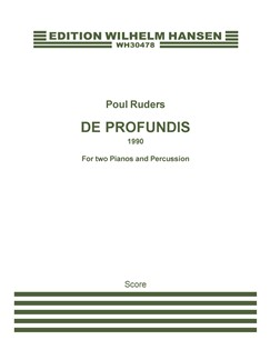 Poul Ruders: De Profundis (Score And Parts) Books | Percussion, 2 Pianos