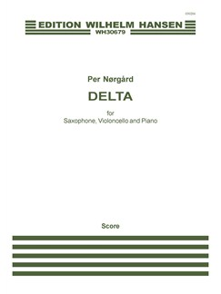 Per Nørgård: Delta (Score and Parts) Bog | Saxofon/Cello/Klaver Ensemble