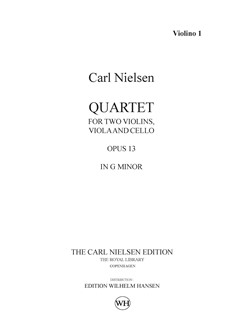 Carl Nielsen: String Quartet Op.13 In G Minor (Parts) Books | String Quartet