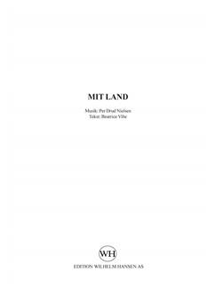 Per Drud Nielsen: Mit Land - En Stribe Grønt. (SATB) Books | SATB