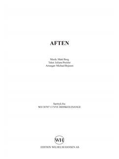 Matti Borg: Aften (SSAA) Books | SSAA