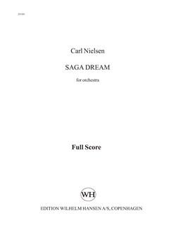 Carl Nielsen: Saga Dream Op.39 (Score) Books | Orchestra